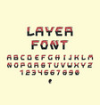 layer font alphabet vector image