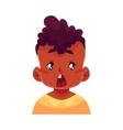 Little boy face surprised facial expression
