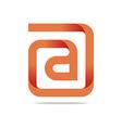 Logo Letter Infinity Alphabet Lettering A Design vector image vector image