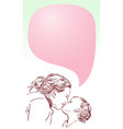love mother and daughter little girl kissing vector image
