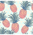 Low poly style seamless pattern with pineapple in vector image vector image