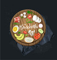 make your bruschetta all ingredients are ready vector image