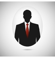 Male person silhouette Profile picture whith red vector image vector image