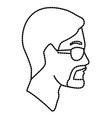 man head with sunglasses vector image vector image