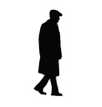 man old silhouette vector image vector image