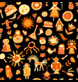 maslenitsa or shrovetide seamless pattern for vector image vector image