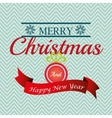 Merry christmas colorful card design vector image