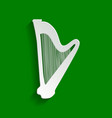 musical instrument harp sign paper vector image vector image