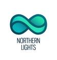 northern lights logo vector image vector image