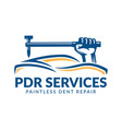 paintless dent repair logo pdr service logo
