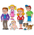 people and family collection 1 vector image
