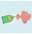 Piggy bank for budget management concept vector image