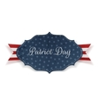 realistic banner with patriot day text vector image vector image