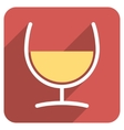 Remedy Glass Flat Rounded Square Icon with Long vector image