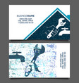 repair plumbing business card vector image vector image