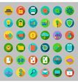 Round flat icons set with concepts of business vector image vector image