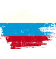 russian scratched flag vector image vector image