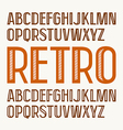 Sans serif decorative font in retro style vector image