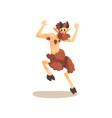 satyr faun ancient mythical creature cartoon vector image