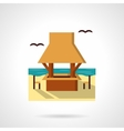 Seacoast cafe-bar flat color design icon vector image vector image