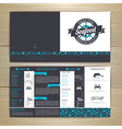 Seafood cafe menu design Document template