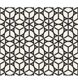 Seamless Black And White Rounded Geometric vector image vector image