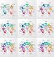 set circle infographic templates 4-12 options vector image vector image