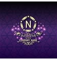 Shiny corporate style card arabesque with pattern
