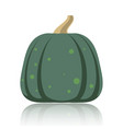 simple flat pumpkin on white glossy surface vector image vector image