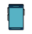 smartphone with blank screen vector image vector image