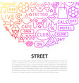 street line concept vector image vector image