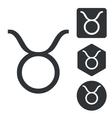 Taurus icon set monochrome vector image vector image