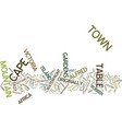 the magic of cape town text background word cloud vector image vector image