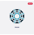 two color pagan icon from religion concept vector image