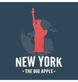 typography poster nyc and statue liberty vector image