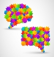 Colorful abstract chat bubbles vector image