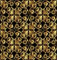 gold flower pattern vector image