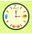 Healthy life concept with clock vector image