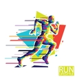 abstract running man style vector image vector image