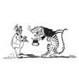 animal alphabet t tiger vintage
