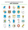 art design flat line icon set - business concept vector image