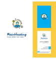 avatar creative logo and business card vertical vector image vector image