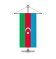 azerbaijan flag on the metallic cross pole vector image vector image
