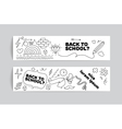 Back to school banner design Hand drawn doodles vector image
