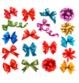 big collection color gift bows with ribbons vector image vector image
