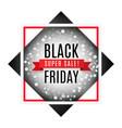 black friday super sale advertising banner vector image vector image