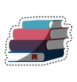 book school isolated icon vector image