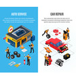 car service vertical banners set vector image vector image