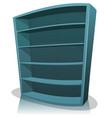 cartoon empty library bookshelf vector image