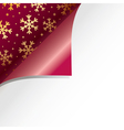 christmas paper curl vector image vector image